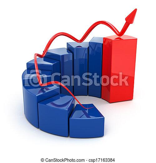 concept., graphique, croissance, isolé, blanc, business, arrière-plan. - csp17163384