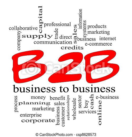 concept, gribouiller, b2b, business, rouges - csp8628573