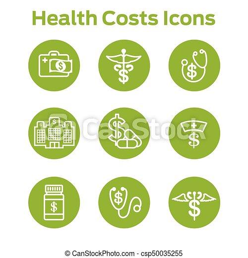 concept, het tonen, kosten, kosten, gezondheid, gezondheidszorg, duur, care - csp50035255