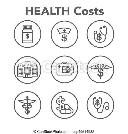 concept, het tonen, kosten, kosten, gezondheid, gezondheidszorg, duur, care - csp49514932