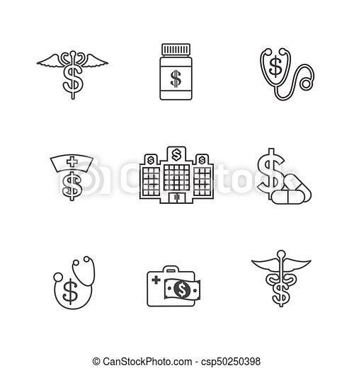 concept, het tonen, kosten, kosten, gezondheid, gezondheidszorg, duur, care - csp50250398