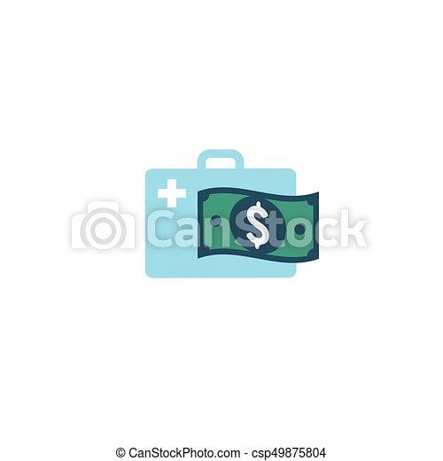 concept, het tonen, kosten, kosten, gezondheid, gezondheidszorg, duur, care - csp49875804