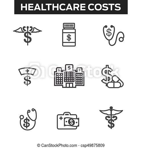 concept, het tonen, kosten, kosten, gezondheid, gezondheidszorg, duur, care - csp49875809