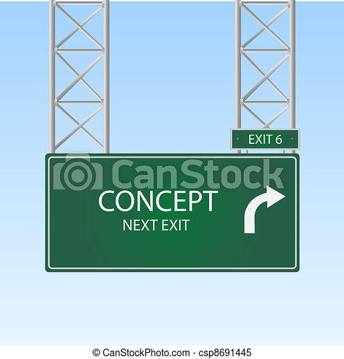 Concept Highway Sign - csp8691445