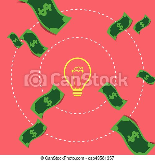 Concept Ideas and Innovation Exchange Money - csp43581357