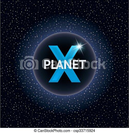 concept, illustration., planeet, vector, ontwerp, x - csp33715924