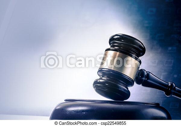 concept, image, légal, lapto, marteau, droit & loi - csp22549855