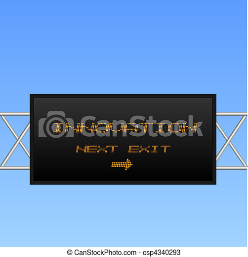 """Concept image of an electronic billboard sign pointing to """"Innovation"""". - csp4340293"""