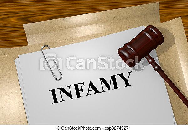concept, infamy - csp32749271