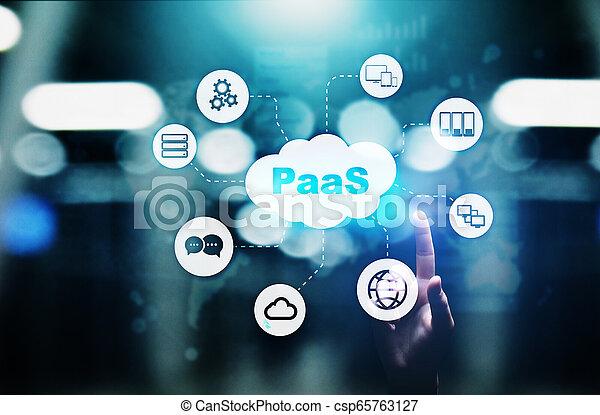 Paas - plataforma como un servicio, tecnología de Internet y el concepto de desarrollo. - csp65763127