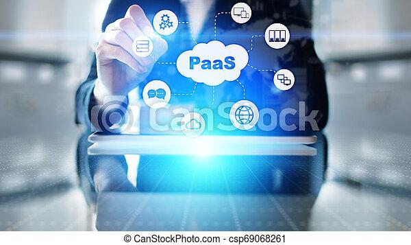 Paas - plataforma como un servicio, tecnología de Internet y el concepto de desarrollo. - csp69068261