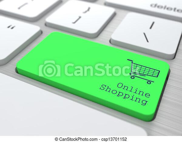 Concepto de compras en línea. - csp13701152