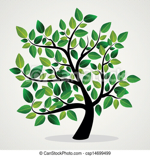 Concept leaves tree - csp14699499