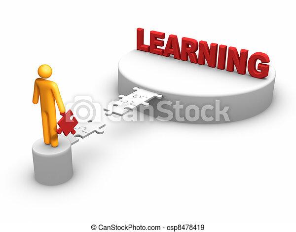 concept, leren - csp8478419