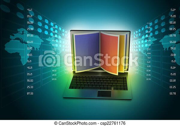 concept, lezende , online - csp22761176