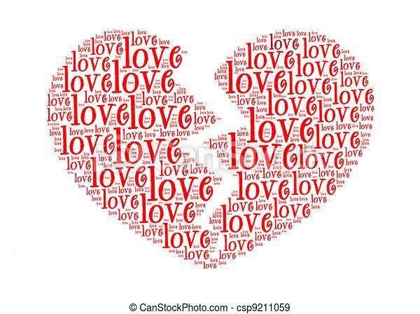 concept, liefde, tekst, regeling, kapot, grafiek, symbol-text.