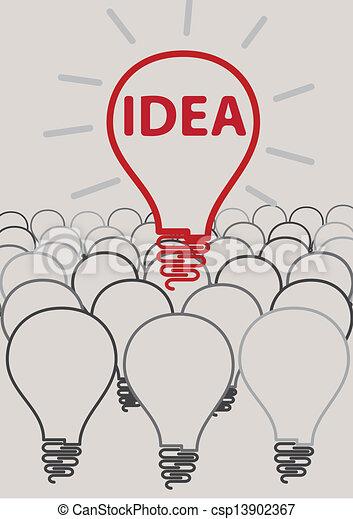 concept, lumière, de, idée, créatif, ampoule - csp13902367