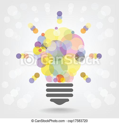 concept, lumière, idée, créatif, conception, fond, ampoule - csp17583720