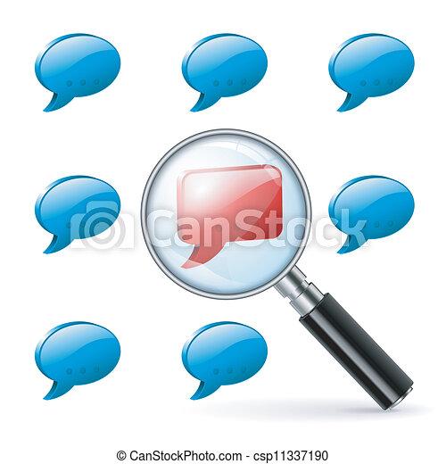 concept, média, -, social, opinion, spécial - csp11337190