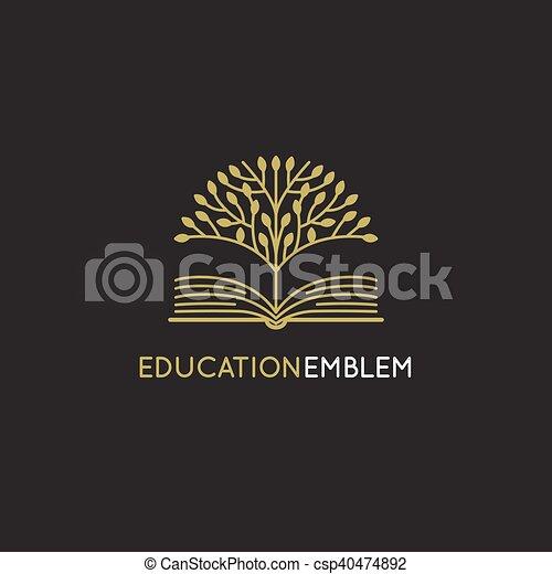concept, mal, abstract, -, vector, ontwerp, leren, online, logo, opleiding - csp40474892