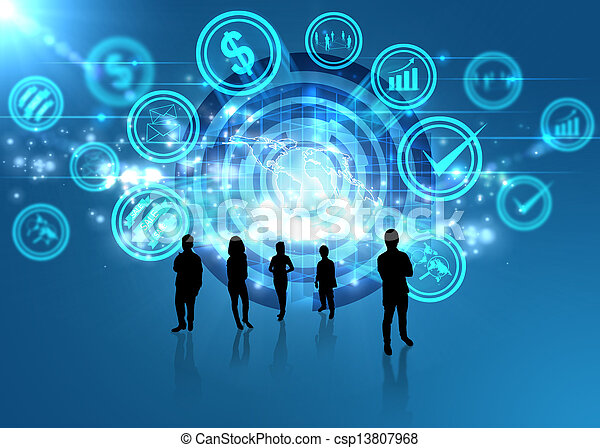 concept, media, digitale , sociaal, wereld - csp13807968