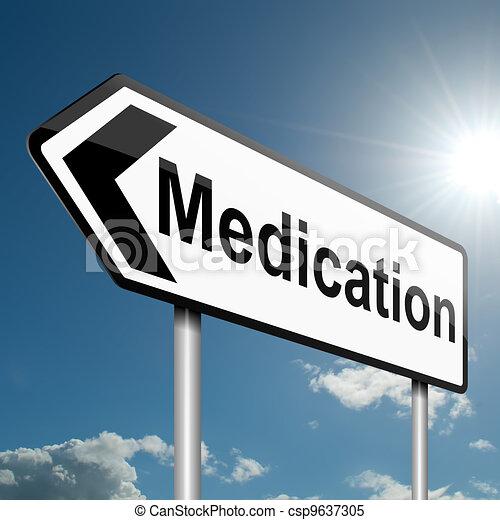 concept., medikation - csp9637305