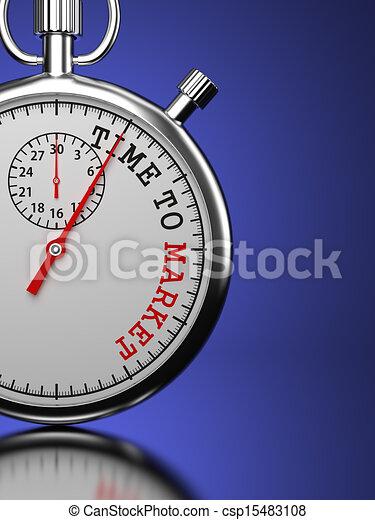 concept., mercado, tempo - csp15483108
