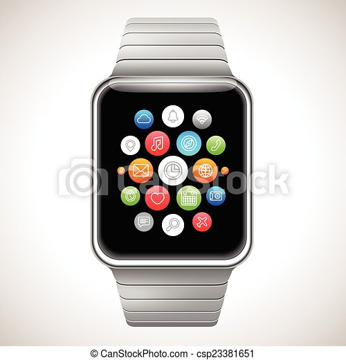concept, montre, intelligent - csp23381651