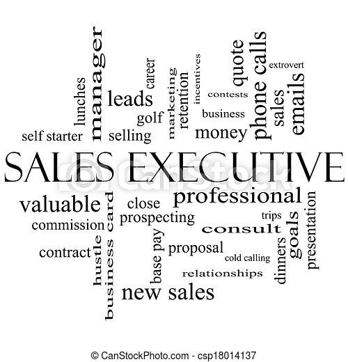 concept, mot, cadre, ventes, noir, nuage blanc - csp18014137