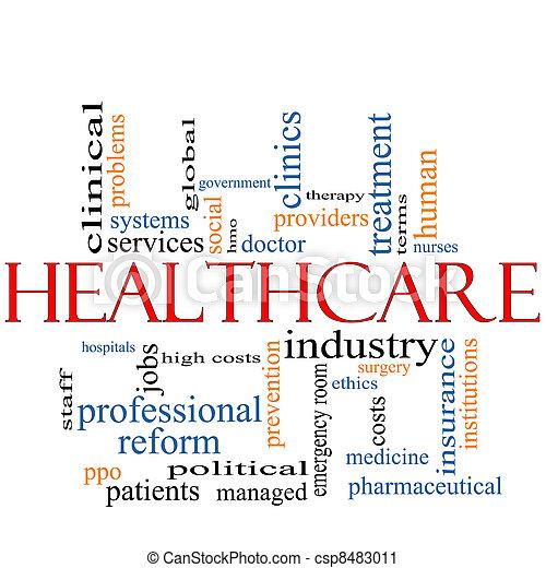 concept, mot, nuage, healthcare - csp8483011
