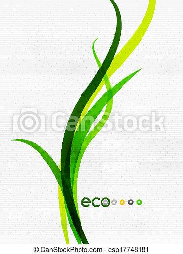 concept, nature, eco, feuilles, voler, vert, floral, |, minimal - csp17748181