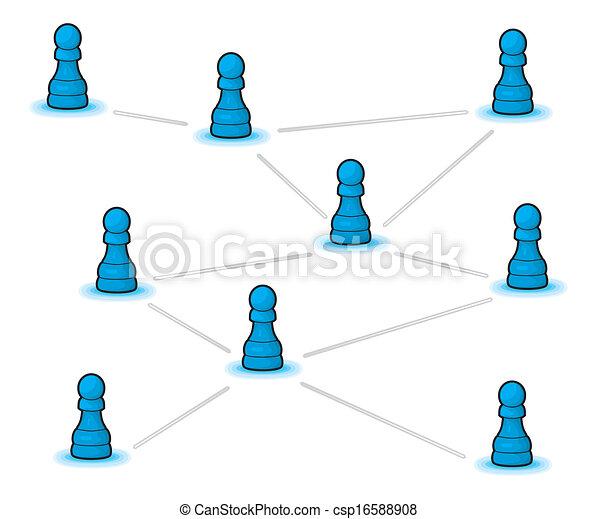 concept, netwerk, sociaal - csp16588908