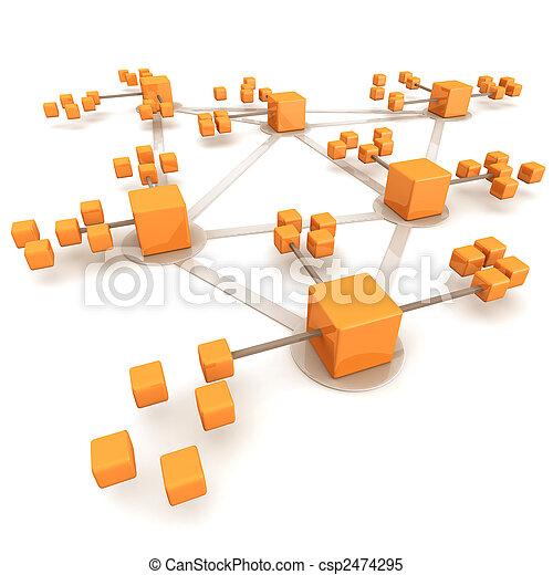 concept, netwerk, zakelijk - csp2474295