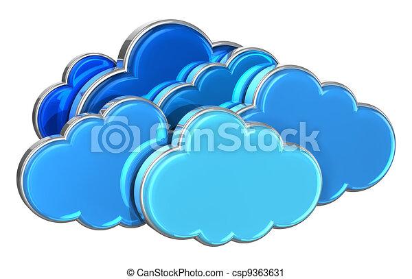 concept, nuage, calculer - csp9363631