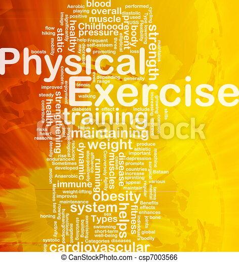 concept, oefening, achtergrond, lichamelijk - csp7003566