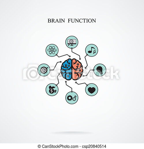 Concept of brain function for education and science, business sign. - csp20840514