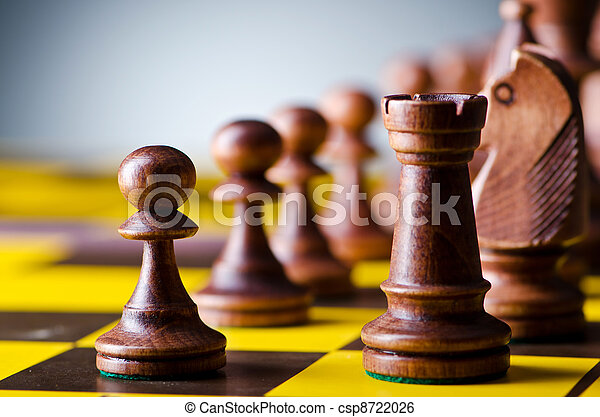 Concept of chess game with pieces - csp8722026