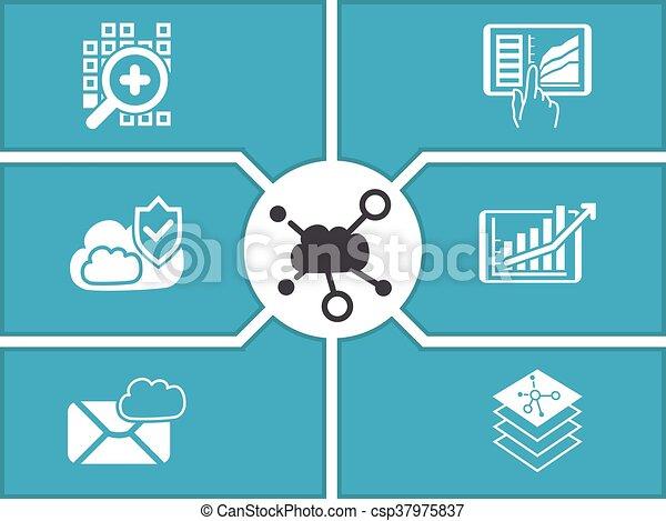 Concept of cloud computing - csp37975837