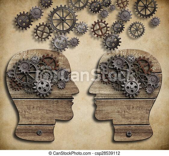 concept of communication, dialog, information exchange - csp28539112