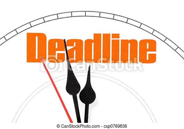 concept of deadline - csp0769836