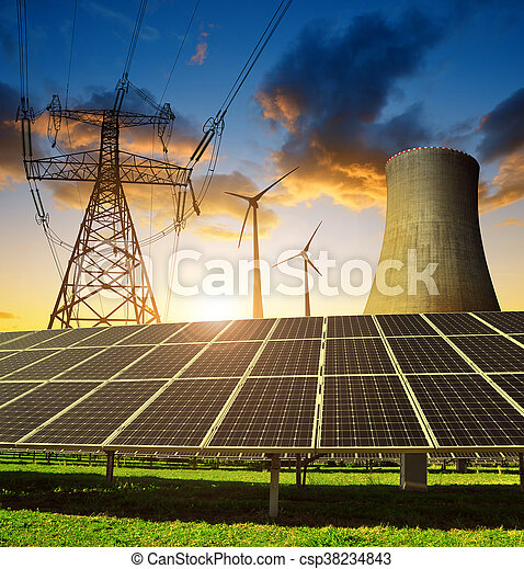 Concept of energy resources. - csp38234843
