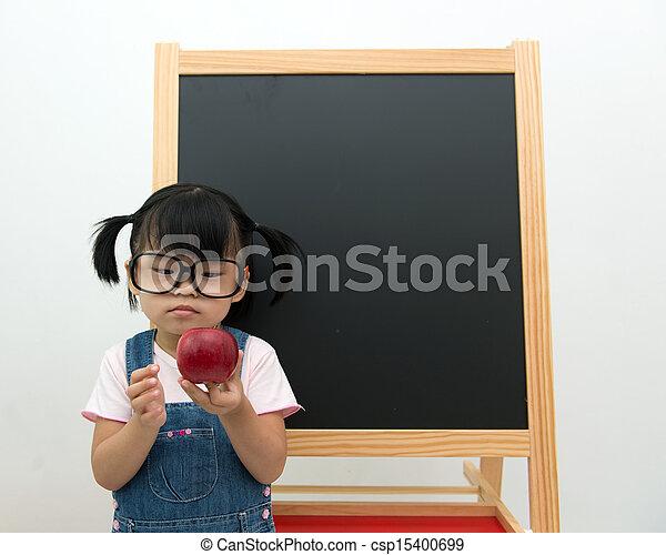 Concept of healthy snack in school - csp15400699
