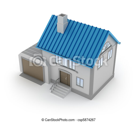 Concept Of House With Garage   Csp5874267