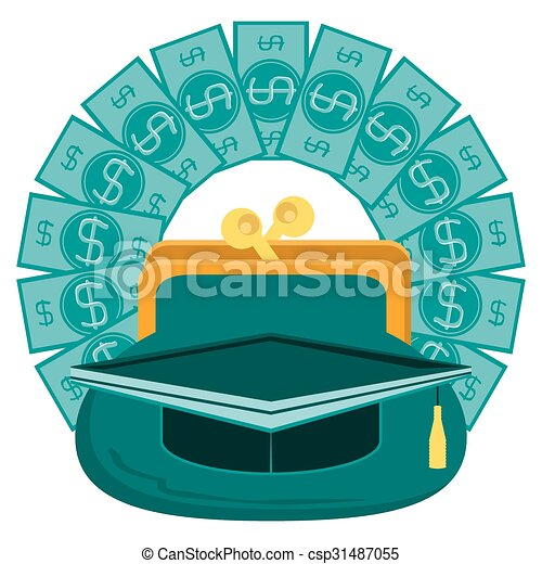 concept of investment in education with dollar paper money rh canstockphoto ca Health Education Clip Art College Clip Art