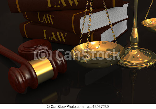 concept of law and justice - csp18057239
