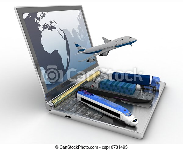 concept of logistics. delivery and transporting by all types of transport - csp10731495