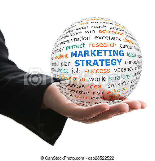 Concept of Marketing strategy in business - csp28522522
