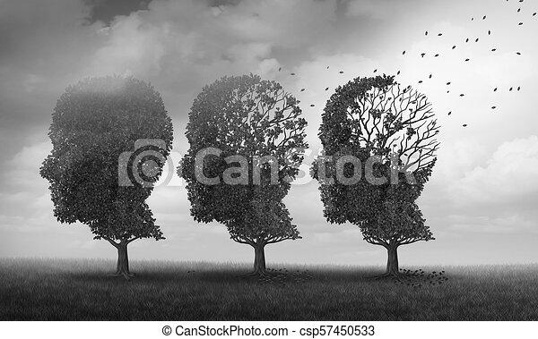 Concept Of Memory Loss - csp57450533