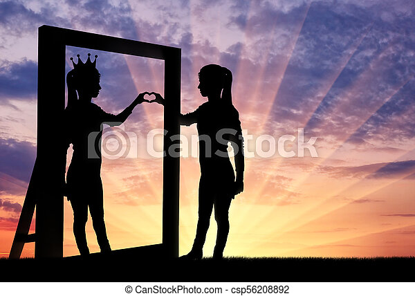 Concept of narcissism and selfishness - csp56208892