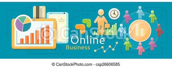 Concept of online business - csp26606585